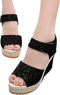 ノンスリップ ソール で 滑りにくい シンプル ウェッジソール 厚底 サンダル 快適 美脚 脚長 効果