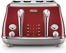 De'Longhi Icona Capitals 4 Slice Toaster, Red, CTOC4003R