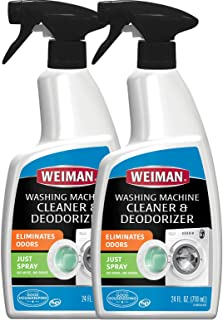 Weiman Washing Machine Cleaner -24 Ounce 2 Pack - No Rinse Cycle Required - Saves Water, Time and Money - High Efficiency ...