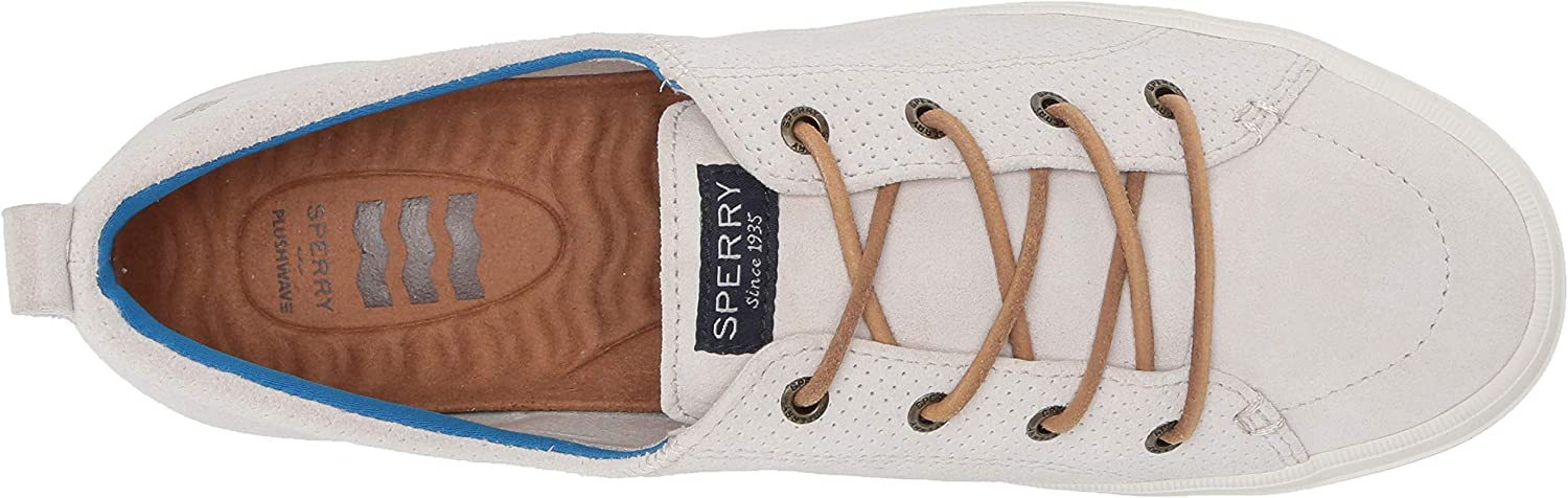 Sperry Top-Sider Womens Crest Vibe Plushwave Pin Perf Leather Sneaker