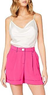 MISS SELFRIDGE Hot Pink Button Shorts Pantalones Cortos para Mujer