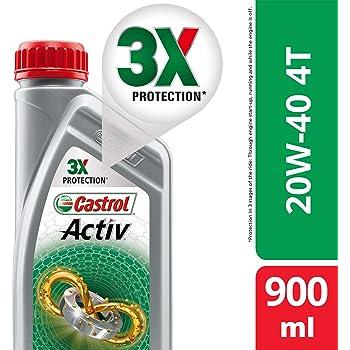 Castrol Activ 4t 20w 40 Petrol Engine Oil For Bikes 900 Ml