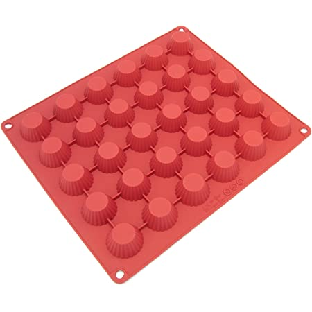 Silicone Chocolate Candy Molds [Peanut Butter, 30 Cup] - Non Stick, BPA Free, Reusable 100% Silicon & Dishwasher Safe Silicon - Kitchen Rubber Tray For Ice, Crayons, Fat Bombs and Soap Molds