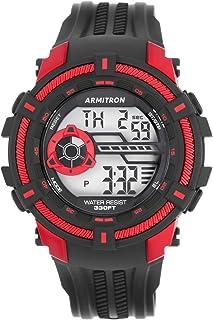ساعة ارمترون رياضية للرجال بسوار من البلاستيك المطاطي كرونوغراف 40/8384