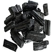 1/2 lb Rough Black Tourmaline Crystals - Raw Natural Black Tourmaline Stones Bulk - Crystal Healing - Cabbing Cutting Lapidary Tumbling and Polishing