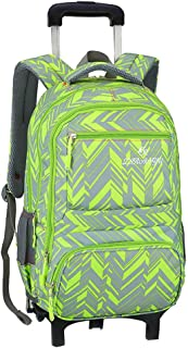 Elementary School Rolling Backpack Preschool Trolley Book Bag Wheeled Students Daily Bagpack for Girls Boys