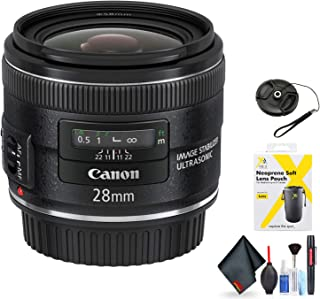 Canon EF 28mm f/2.8 is USM Lens for Canon EF Mount + Accessories (International Model)