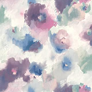 RoomMates Impressionist Floral Peel and Stick Wallpaper