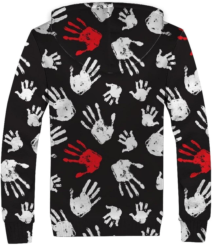 Men's Hoodies Sweatshirt Winter Jacket Fleece Pullover Full Zip Thick Coats S-3XL