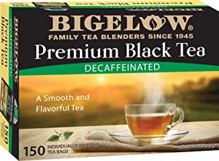 Bigelow Premium Decaffeinated Black Tea, 150 Count Box