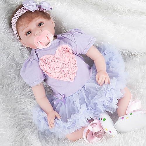 Broadroot Sü 55cm Simulation Neugeborenen Weiße Silikon Puppen Kinder Lebensechte Bade Schlaf Playmate Spielzeug Geschenke