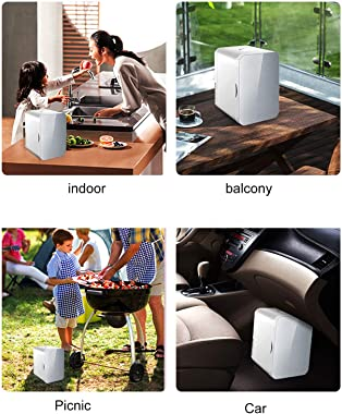 Car Cooler, 8L Mini Fridge, Portable Cooler and Warmer Personal Refrigerator for Room, Dual-Use Electric Beverage Fridge, Sin