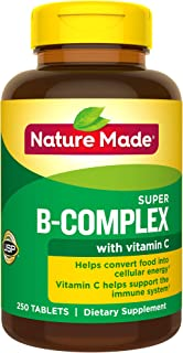Nature Made Super B Complex + Vitamin C Tablets, 250 Count