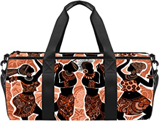 EGGDIOQ Beautiful African American Dancers Designed Fashion Travel Duffel Bag Luggage Handbag Gym Sports Tote Bags for Man...