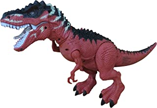 Battery Operated Walking Dinosaur Toy for Kids Figure with Light Up Eyes and Sounds like Real Dinosaur for Boys Age 3 and Up
