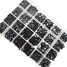 JIAN 400/106 0X M1.6 M2 M3 M4 M5 Black12.9 Grade Steel Allen Hexagon Hex Socket Cap Hoofd Schroefbout Moer Wasmachine Set ...