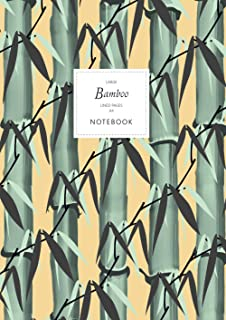 Bamboo Notebook - Lined Pages - A4 - Large: (Sunset Edition) Notebook 192 lined pages (A4 / 8.27x11.69 inches / 21x29.7cm)