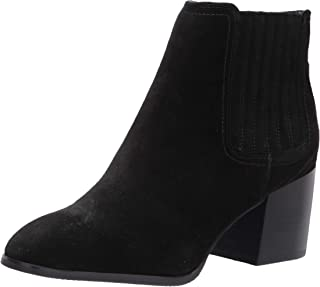 Blondo Women's Heeled Bootie Fashion Boot, Black Suede