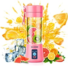 Portable Blender,Zjj-Home Smoothie Blender-Six Blades in 3D, Mini Travel Personal Blender with USB Rechargeable Batteries,...