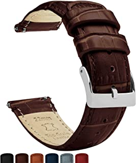 Barton Alligator Grain – Quick Release Leather Watch Bands – Choose Color,..
