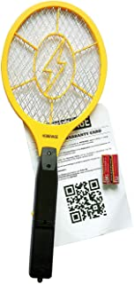 HOMEVAGE Electric Fly Swatter - Bug Zapper - Best High Voltage Handheld Mosquito Killer - Wasp, Fruit Fly, Insect Trap Racket For Indoor, Travel, Camping and Outdoor Control (2 AA Batteries Included)