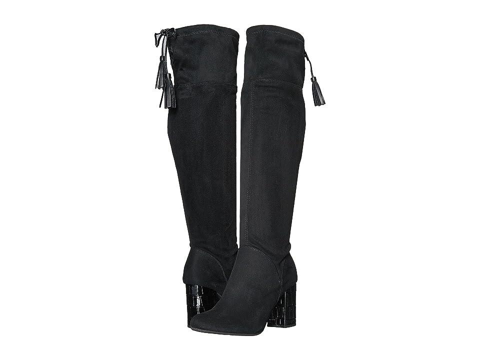 J. Renee Calcari (Black Suede/Cream) High Heels