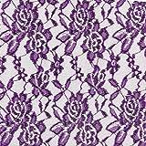 Fabulous Fabrics Spitze lila, Blume, 150cm breit –