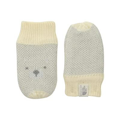 The North Face Kids Friendly Faces Mitt (Infant) (Vintage White) Extreme Cold Weather Gloves