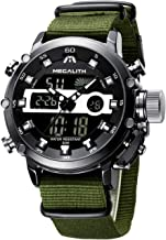 MEGALITH Mens Sports Watches Military Digital Gents Watch Chronograph Waterproof Wrist Watches for Man Boys Kids with Led ...