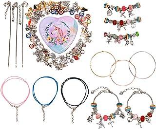 SOTOGO 107 Pieces DIY Charm Bracelet Making Kit Charm Bracelets Kit with Beads,Jewelry Charms, Bracelets for DIY Craft,Jew...
