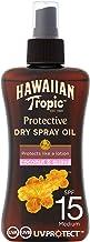 Hawaiian Tropic Protective Dry Spray Oil, SPF 15, 200ml