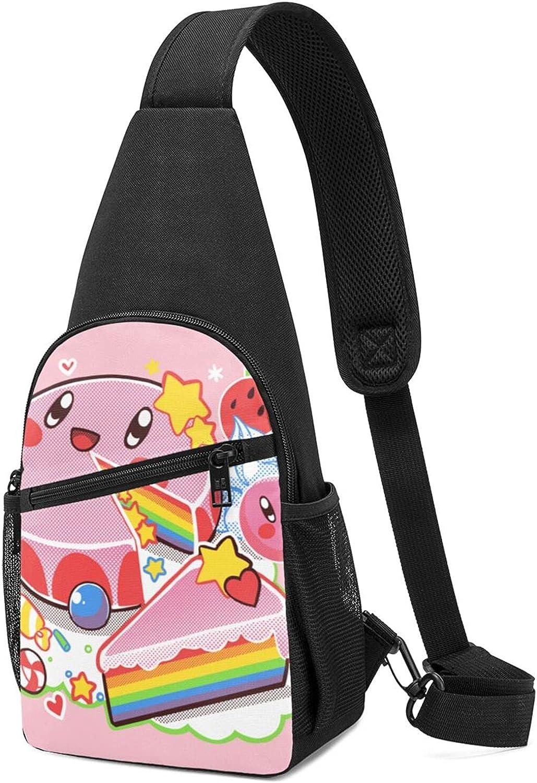 Chest Bag Dream Cake - Kirby B Latest item Fashionable Backpack Cross Sling Shoulder