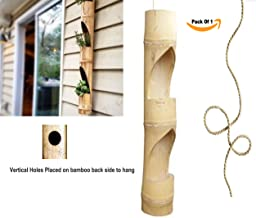 RARE PRODUCTS OOTY Bamboo Hand Made Beauty Hanging Vertical Wall Planter