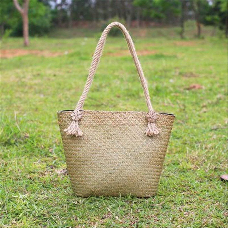 Eeayyygch Handtasche Der thailändische Strohbeutel-Art-Frauen Retro Rattan-Gras-Schulter-Beutel-Strand-Beutel-Hersteller-Großverkauf (Farbe     Yuan) B07JLGLVQT 5c0670
