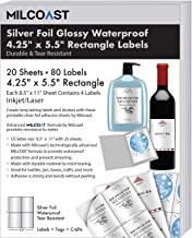 Milcoast Silver Foil Glossy Waterproof Tear Resistant Adhesive 4.25