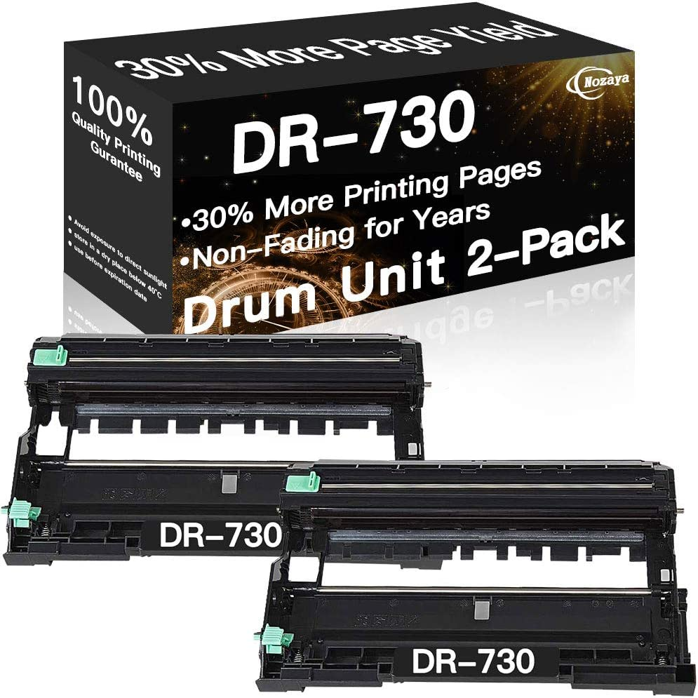 2-Pack Compatible Drum Unit Replacement for DR730 DR-730 to Use with Brother DCP-L2550DW HL-L2395DW HL-L2390DW HL-L2370DW HL-L2350DW MFC-L2750DW MFC-L2750DWXL MFC-L2710DW Printer, by NOZAYA