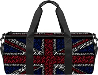EGGDIOQ Britain UK Flag Trident Union Jack Designed Fashion Travel Duffel Bag Luggage Handbag Gym Sports Tote Bags for Man...