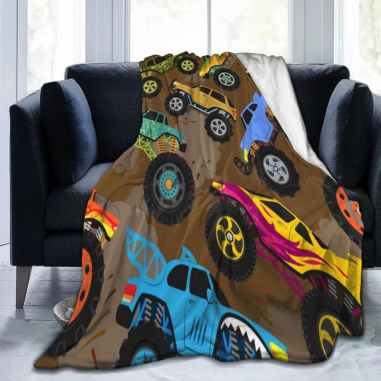 Sales Monster Cartoon Truck Fleece Blanket Car Ranking TOP6 Micr Vehicle Or
