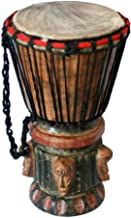 NOVICA 156993 Think Together' Wood Djembe Drum