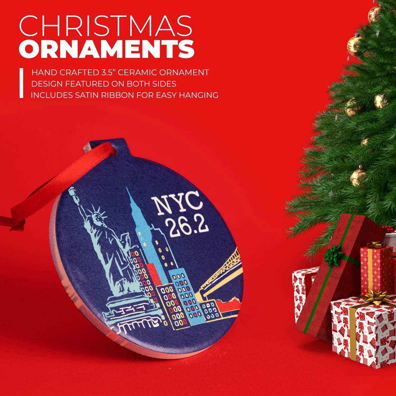 2020 Nyc Marathon Christmas Ornament Amazon.com: Gone for a Run Running Round Ceramic Ornament   NYC