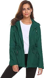 Romanstii Rain Jacket Women Long Mesh Lined Raincoat Waterproof Lightweight Trench Coat for Outdoor Trip