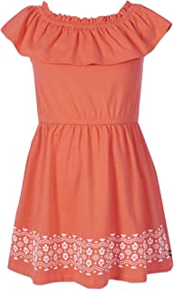 Nautica Girls' Off Shoulder Fashion Dress