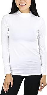 ToBeInStyle Women's Mock Neck Long Sleeve Classic Top