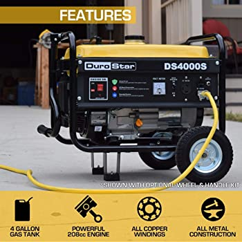 Durostar DS4000S Portable Generator, Yellow/Black