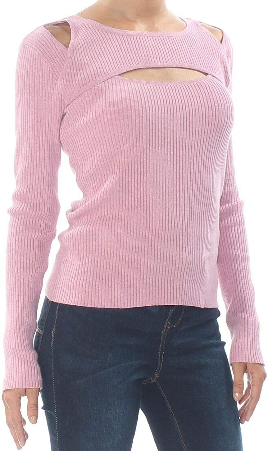 Ranking TOP18 Bar III Womens Cut-Out Discount mail order Cold Shoulder Purple M Sweater