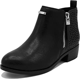Kids Girls Youth Ankle Bootie with Side Buckle and Zipper, Dress Boot (Little/Big Kids)