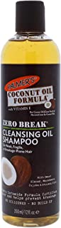 Palmer's Coconut Oil Zero Break Cleansing Oil Shampoo for Unisex, 12 Ounce