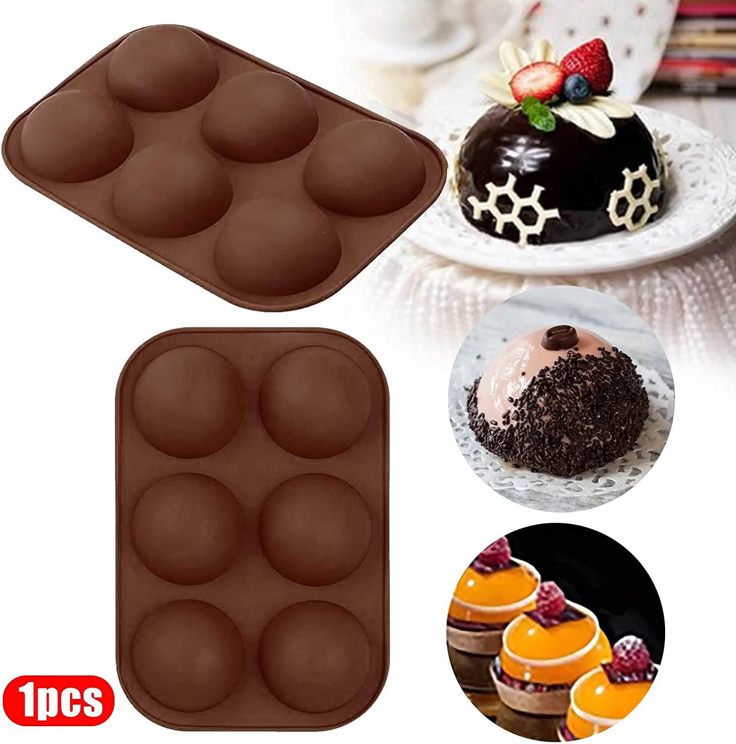 Jelly Cake Black,1PC nikunLONG 1PC Half Ball Sphere Silicone Mold Festival Party DIY Nonstick Cake Mold Silicone Cake Mold Muffin Cookie Baking Mould Pan for Chocolate Pudding