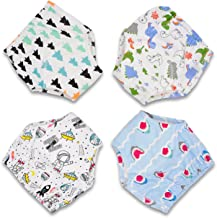 CottonTraining Pants 4 Pack Padded Toddler Potty Training Underwear for Boys and Girls-12M-5T
