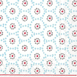 Boston International L743349 Holiday Paper Luncheon Napkins, Winter Dotty-Light Blue